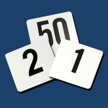 Thunder Group PLTN4025 Plastic Table Numbers 1-25 - 1 pack