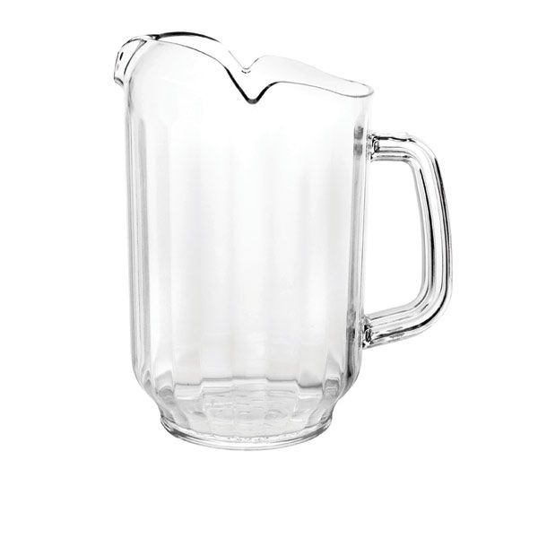 Thunder Group PLWP064CL Clear Three Spout Water Pitcher 64 oz. - 1 doz