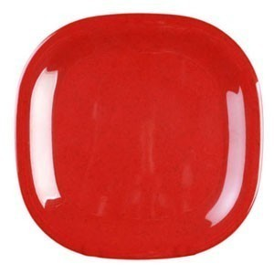 "Thunder Group PS3010 Round Square Melamine Passion Plate 11"" x 11"" - 1 doz"