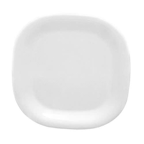 "Thunder Group PS3010W Passion White Round Square Plate 10-3/4"" - 1 doz"