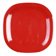 "Thunder Group PS3014RD Passion Red Square Melamine Plate 14"" - 1/2 doz."