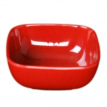 Thunder Group PS3103RD Passion Red Round Square Melamine Bowl 5 oz.- 1 doz