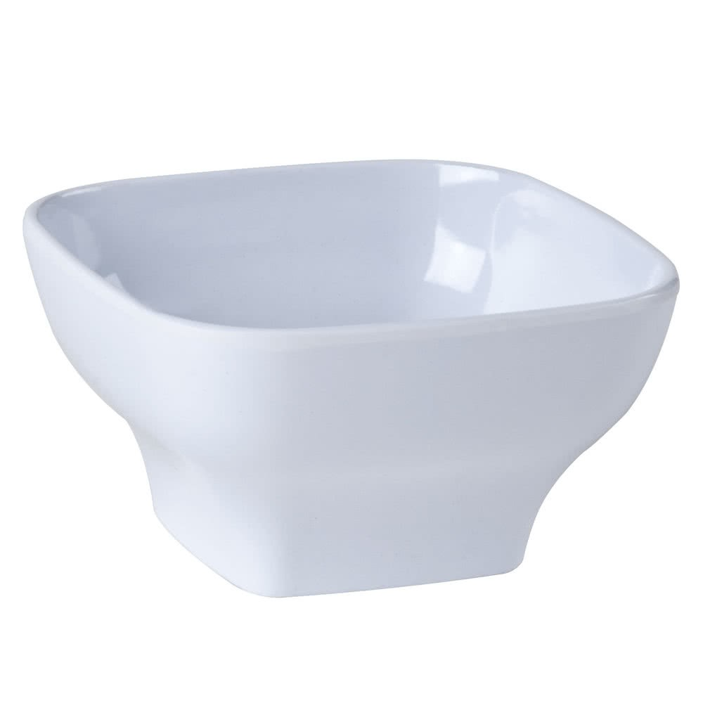 Thunder Group PS3105W Passion White Round Square Melamine Bowl 24 oz.- 1 doz