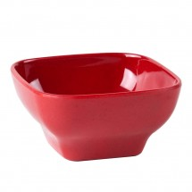 Thunder Group PS3106RD Passion Red Round Square Melamine Bowl 20 oz. - 1 doz