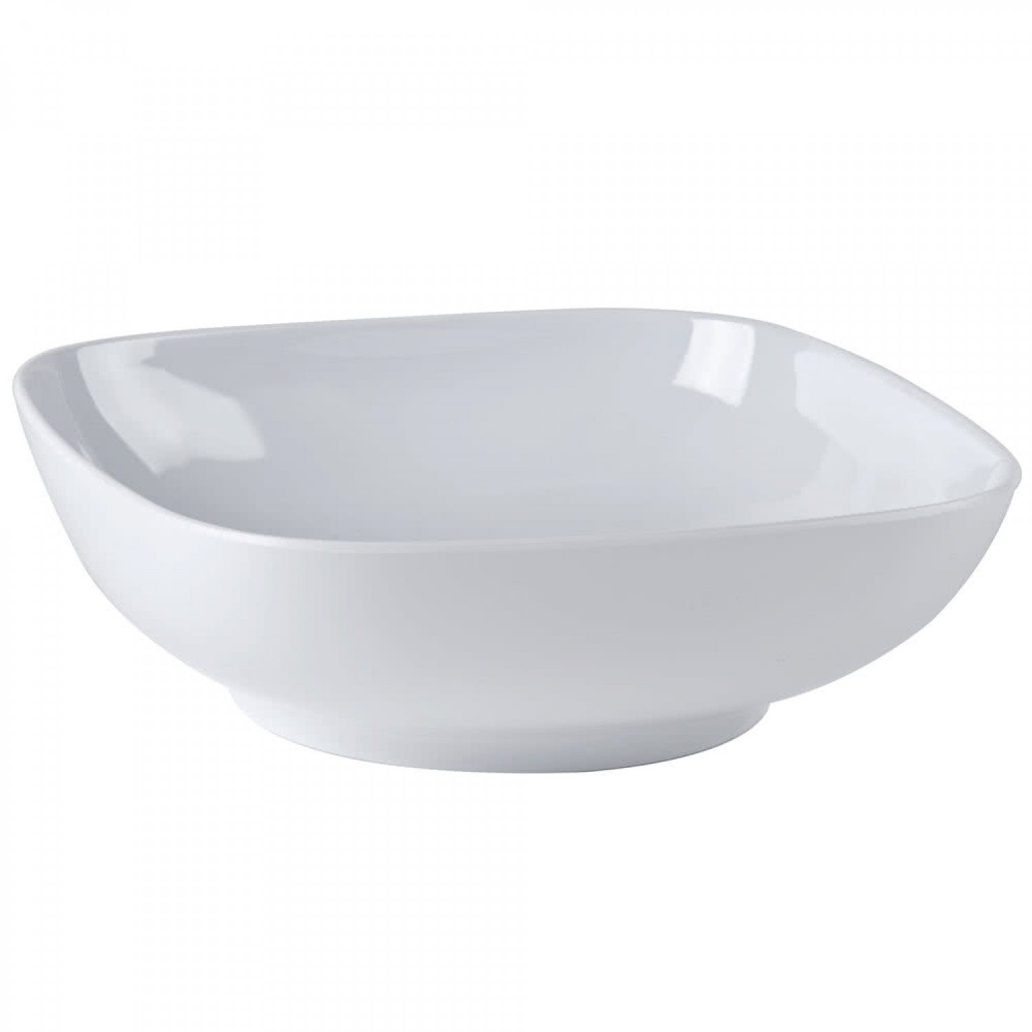 Thunder Group PS3111W Passion White Square Bowl with Round Edges 128 oz. - 1/2 doz