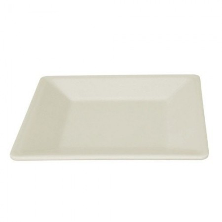 "Thunder Group PS3208V Passion Pearl Square Melamine Plate 8-1/4"" - 1 doz."