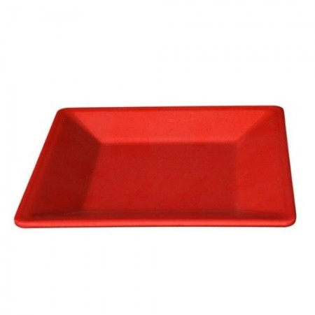 """Thunder Group PS3211RD Passion Red Square Melamine Plate 10-1/4"""" - 1 doz."""