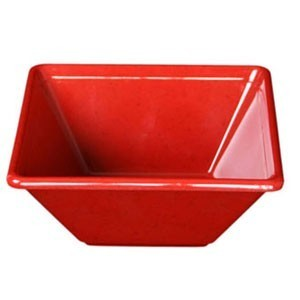 Thunder Group PS5005RD Red Square Melamine Passion Bowl 11 oz. - 1 doz