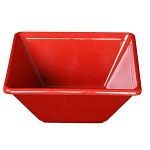 Thunder Group PS5005RD Passion Red Square Melamine Bowl 11 oz. - 1 doz.
