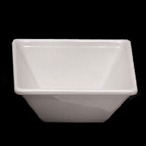 Thunder Group PS5005W White Square Melamine Passion Bowl 11 oz. - 1 doz