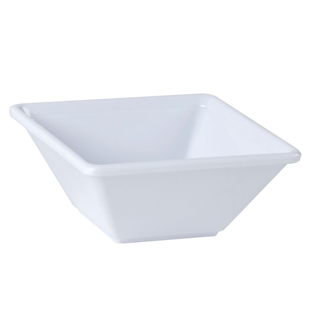 Thunder Group PS5005W Passion White Square Melamine Bowl 11 oz. - 1 doz