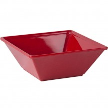 Thunder Group PS5006RD Passion Red Square Melamine Bowl 23 oz. - 1 doz.