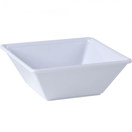 Thunder Group PS5006W Passion White Square Melamine Bowl 23 oz. - 1 doz.