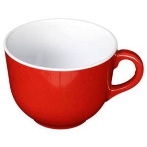 Thunder Group PS9475RD Passion Red Melamine Mug 23 oz. - 1/2 doz.