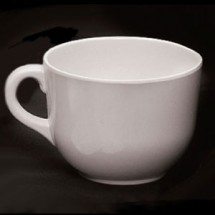 Thunder Group PS9475W White Melamine Passion Mug 23 oz. - 1/2 doz