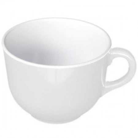 Thunder Group PS9475W Passion White Melamine Mug 23 oz. - 1/2 doz.