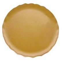 "Thunder Group RF1006G Round Gold Pearl Salad Plate 8-1/2"" - 1 doz"