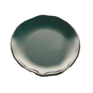 "Thunder Group RF1010BW Round Two-Tone Black Pearl Dinner Plate 10-1/2"" - 1/2 doz"
