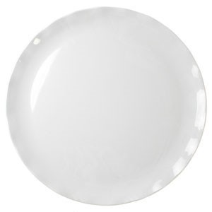 "Thunder Group RF1016W White Round Black Pearl Plate 16"" - 2 pcs"
