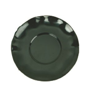 """Thunder Group RF1065BW Two-Tone Black Pearl 6-1/2"""" Saucer for RF9475 - 1 doz."""