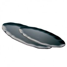 "Thunder Group RF2030B Oval Black Pearl Platter 30"" x 12"" - 2 pcs"