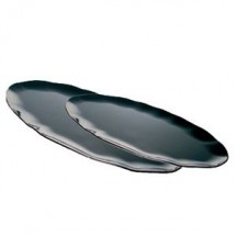 "Thunder Group RF2030BW Oval Two-Tone Black Pearl Platter 30"" x 12"" - 2 pcs"