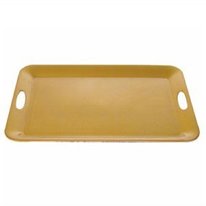 "Thunder Group RF2920G Rectangular Gold Pearl Serving Tray 19-1/2"" x 14-1/2"" - 3 pcs"