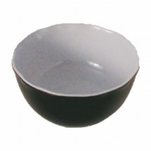 Thunder Group RF5112BW Large Two-Tone Black Pearl Serving Bowl 176 oz. - 3 pcs