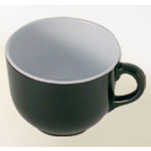 Thunder Group RF9475BW Two-Tone Black Pearl Soup Mug 23 oz. - 1/2 doz