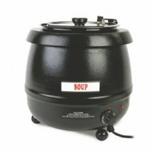 Thunder Group SEJ32000C Brown Stainless Steel Soup Warmer 10-1/2 Qt.