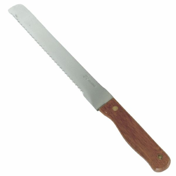"Thunder Group SLBK013 Bread Knife / Wood Handle 8-1/2"" - 1 doz"