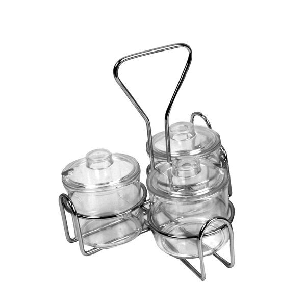 Thunder Group SLCJH003 3 Holes Condiment Jar Holder - 1 doz