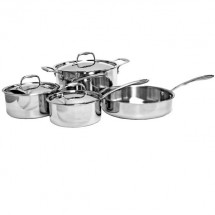 Thunder Group SLCK007 Try-Ply 7-Piece Cookware Set
