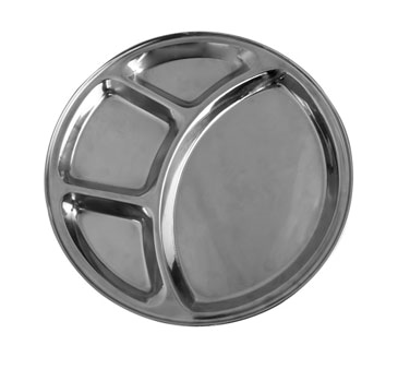 Thunder Group SLCRT004 4 Compartment Stainless Steel Tray
