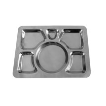 Thunder Group SLCST006 6 Compartment Stainless Steel Tray
