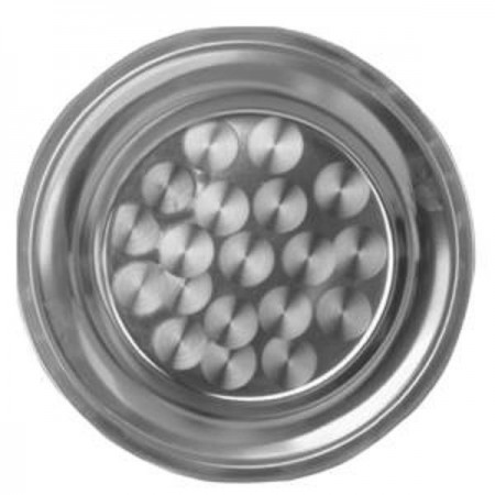 "Thunder Group SLCT010 Round Stainless Steel Serving Tray 10"" - 1 doz"