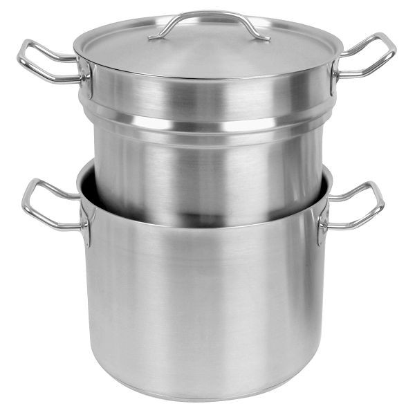 Thunder Group SLDB020 Stainless Steel Double Boiler with Cover 20 Qt.