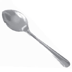 Thunder Group SLDO001 Domilion Stainless Steel Sugar Spoon - 2 doz