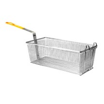 "Thunder Group SLFB009 Fry Basket With Yellow Handle 17"" x 8-1/4"""
