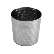 Thunder Group SLFFC003 Stainless Steel French Fry Cup, Hammered Finish