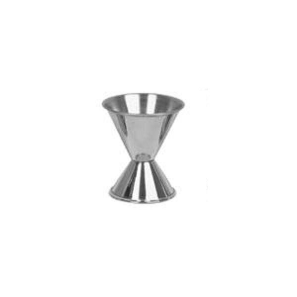Thunder Group SLJG002 Stainless Steel 3/4 Oz. x 1-1/2 Oz. Jigger - 1 doz