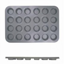 Thunder Group SLKMP124 24 Cup Non-Stick Mini Size Muffin Pan