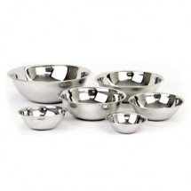 Thunder Group SLMB201 Heavy Duty Stainless Steel Mixing Bowl 3/4 Qt. - 2 doz