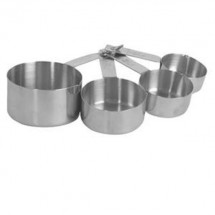 Thunder Group SLMC2414 Stainless Steel Measuring Cup Set - 1 doz