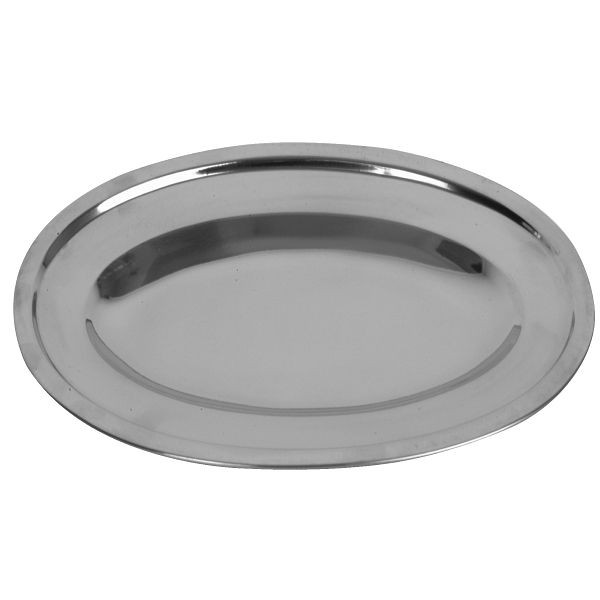 "Thunder Group SLOP012 Oval Stainless Steel Serving Platter 12"" - 1 doz"