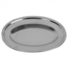 "Thunder Group SLOP014 Oval Stainless Steel Serving Platter 14"" - 1 doz"
