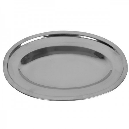 """Thunder Group SLOP016 Oval Stainless Steel Serving Platter 16"""" - 1 doz"""