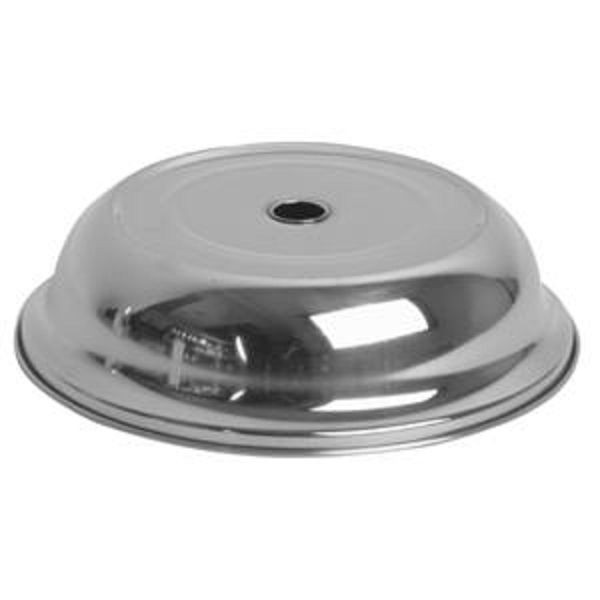 "Thunder Group SLPC230 Stainless Steel Multifit Plate Cover 9-3/4"" - 1 doz"