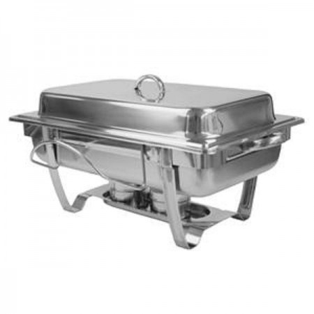Thunder Group SLRCF0833BT Stainless Steel Full Size Stackable Chafer 8 Qt.