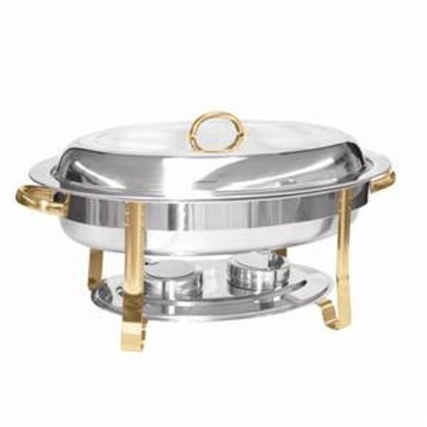 Thunder Group SLRCF0836GH 6 Qt. Oval Chafer